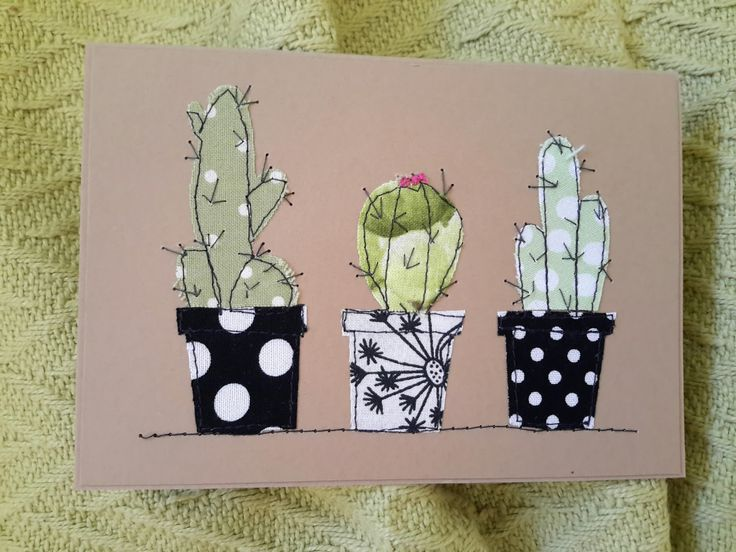 * Applique and sewing cards