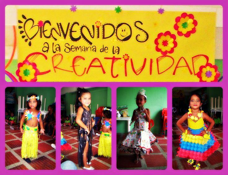 Semana de la creatividad año 2010. Desfile de moda con material Reciclable (Niños de 3 años de un CDI en la ciudad de Barranquilla Colombia)