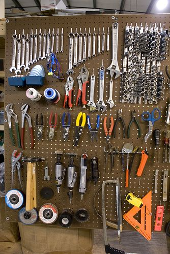 Tools On Pegboard Garage Tools Garage Tool Organization