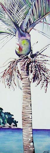 Summer Nikau by Jane Puckey for Sale - New Zealand Art Prints