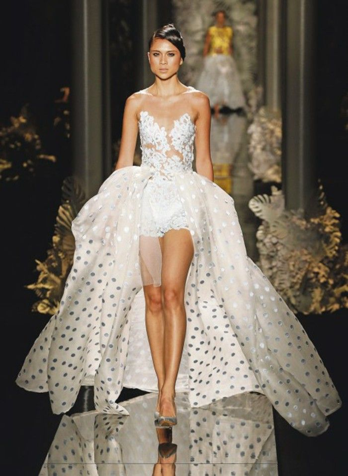 61 best wedding decor images on pinterest homecoming for Short couture wedding dresses