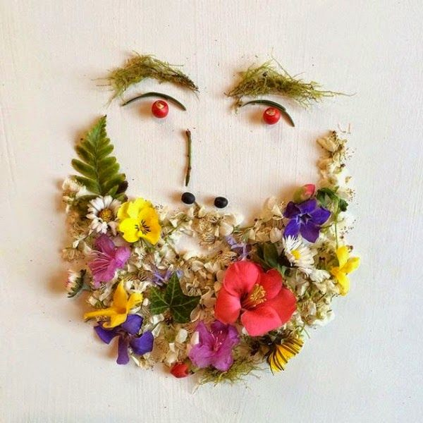 Flowers collages by Bridget Beth Collins | http://ineedaguide.blogspot.com/2015/03/bridget-beth-collins.html | #flowers #collage #art