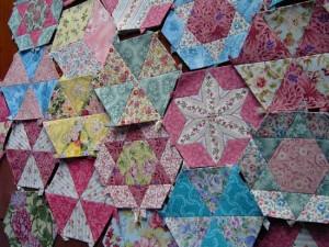 candied hexagon quilt