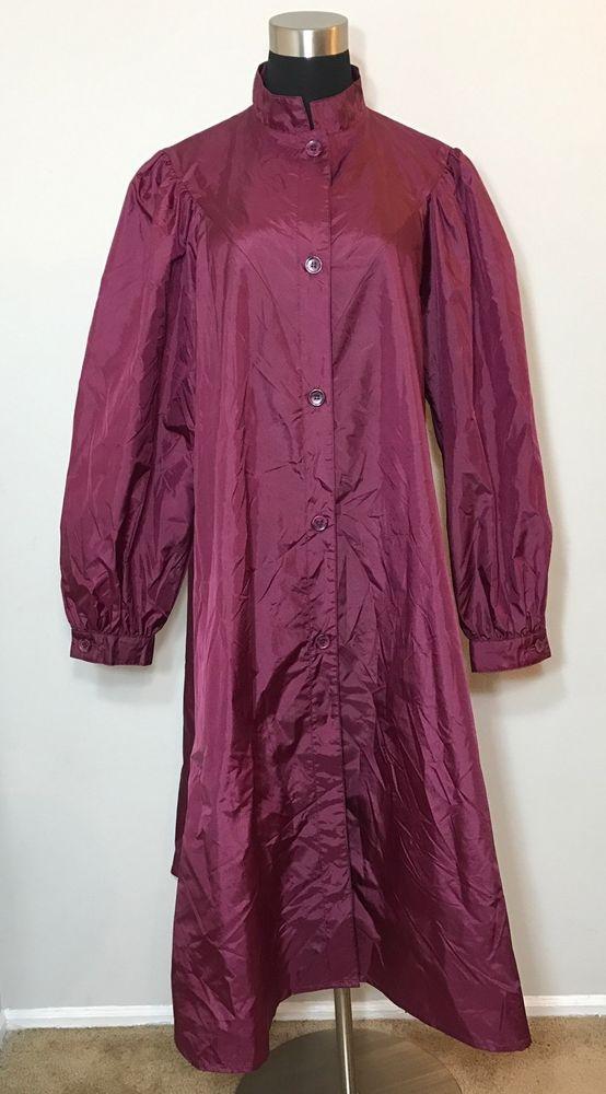 Totes Womens Rain Coat Pink Nylon Vintage Vtg Old School  | eBay