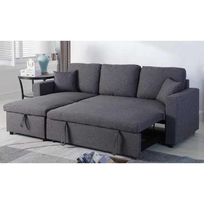 Mullaney Reversible Storage Pull Out Bed Sleeper Sectional Sectional Sofa Couch Sectional Sofa Sofa Bed With Storage
