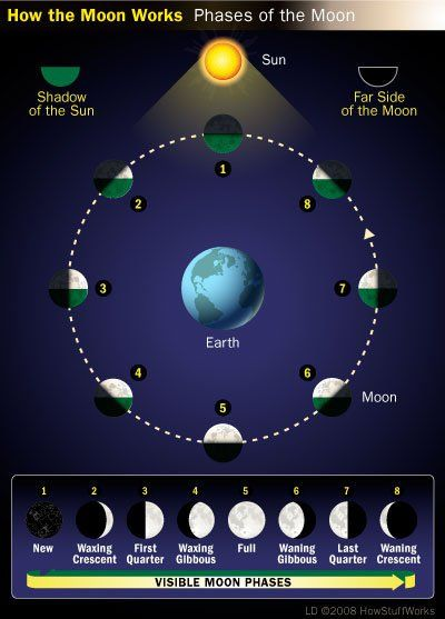 How the phases of the moon work.