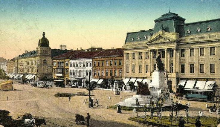 Arad - main boulevard, early XIX century