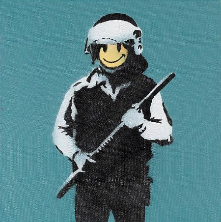 Bansky Riot Police