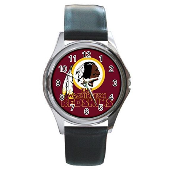 Washington Redskins Football Round Metal Watch by jordaakbarjung