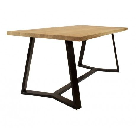 VERTICO modern dining table made of oak and steel