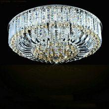 D55cm нержавеющей стали современные хрустальные люстры потолочные светильники lamparas де techo де cristal для гостиной бесплатная доставка