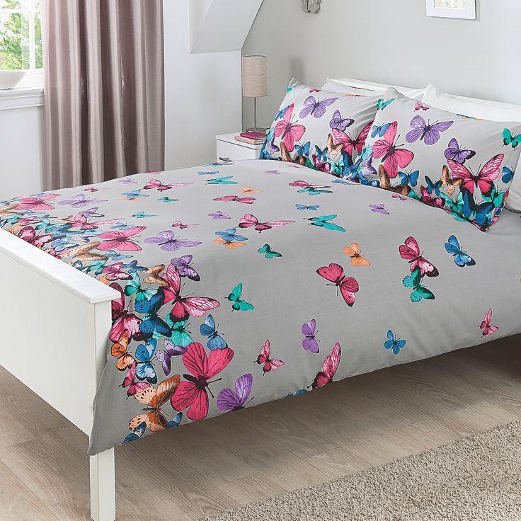 George Home Colourful Butterflies Duvet Set | Duvet Covers | ASDA direct