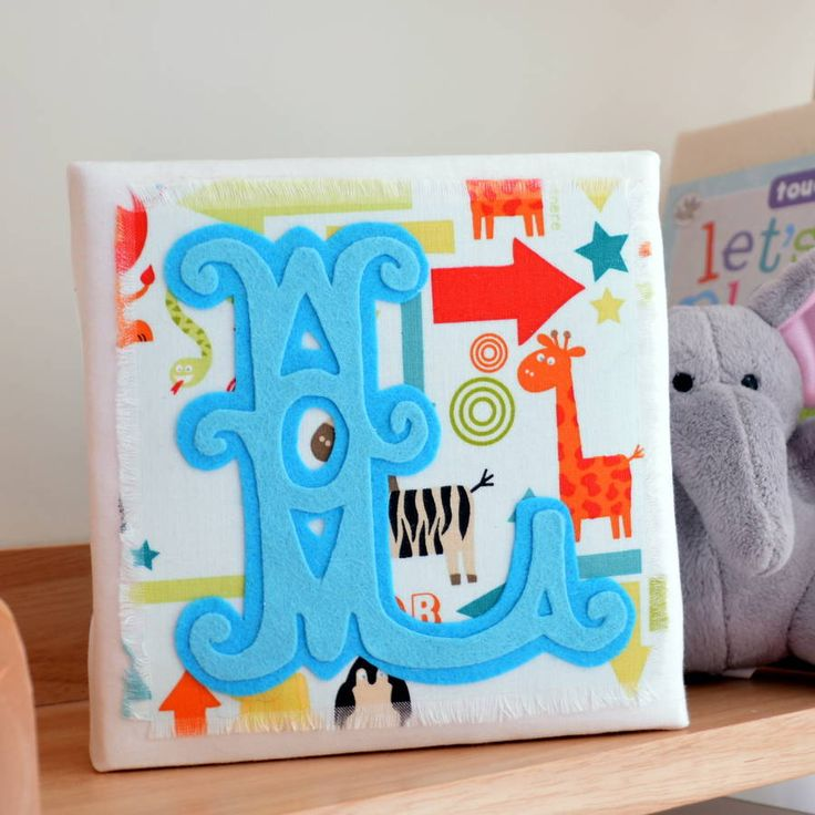I've just found Initial Canvas Baby Boy. A beautiful handmade artwork to celebrate a new baby boy with personalised letters.. £19.00