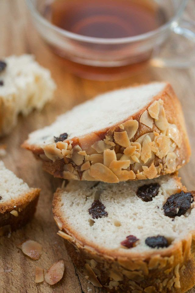 Kugelhopf - a delicious yeasted bread with crunchy almonds and plump raisins