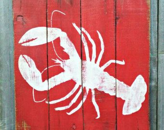 Nautical Hand Painted Distressed Reclaimed Wooden by SeasideRelics