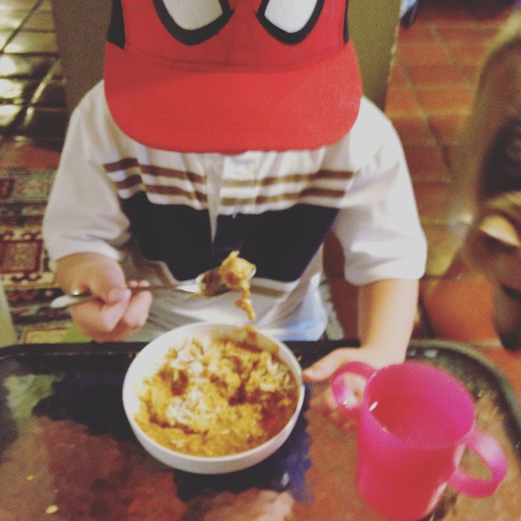 Who knew that Spider-Man loves peanut lentil stew so much?  #busybowlclub #thisisfive