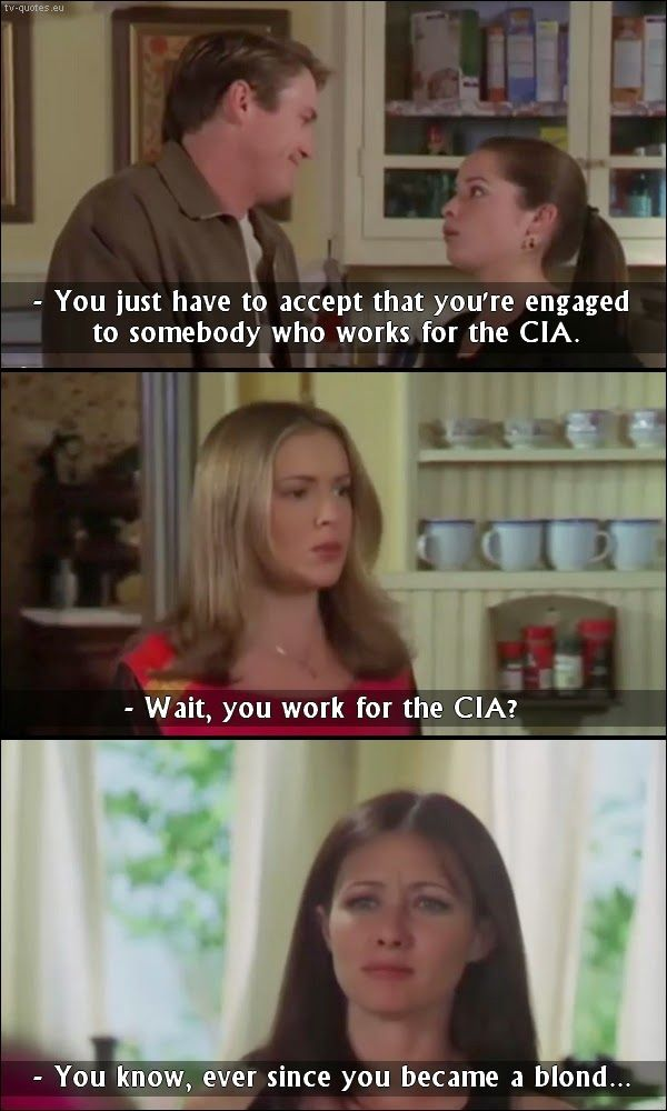 TV Quotes: Charmed - Quote - Leo works for CIA?