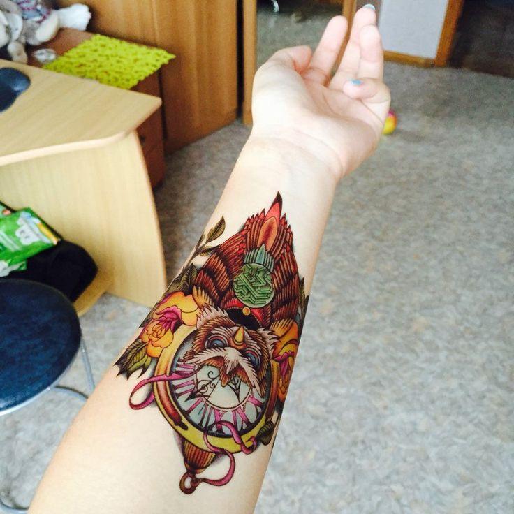 아름다운 귀여운 섹시한 바디 아트 뷰티 메이크업 멋진 올빼미 방수 임시 문신 스티커 여자 남자