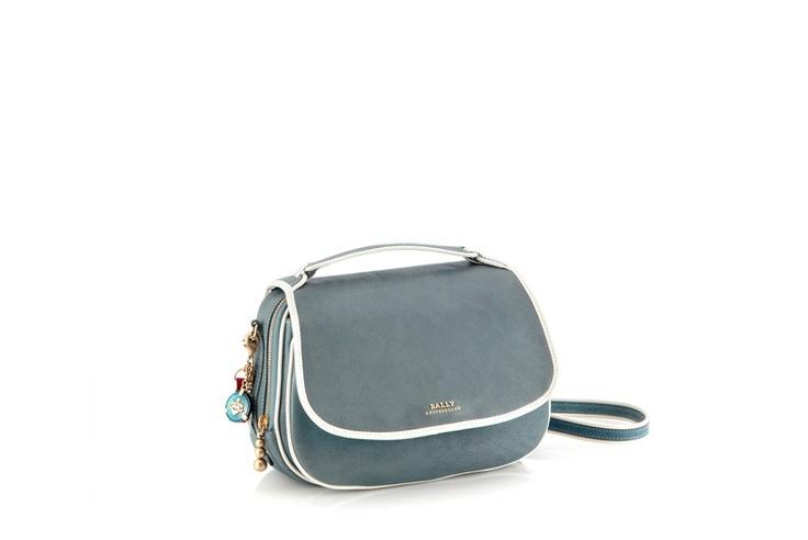 Slate Blue Ollie Messenger Bag