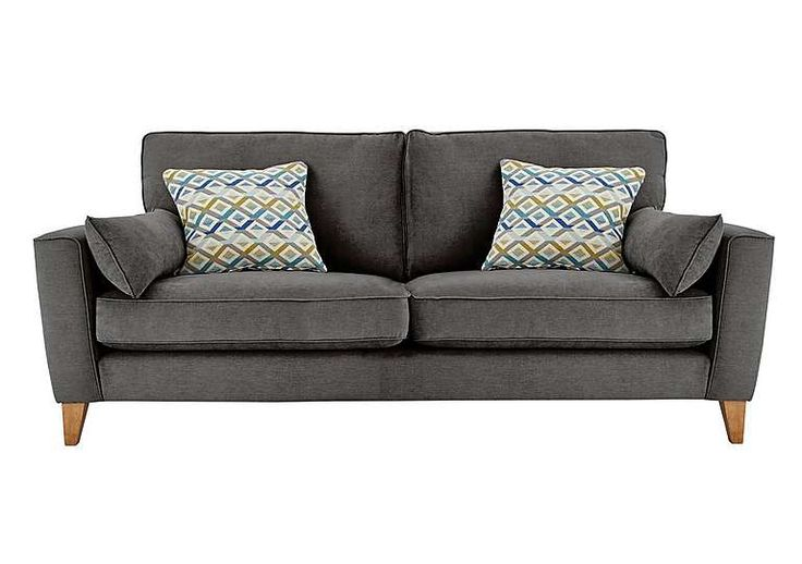 Furniture Village Annalise gorgeous leather & fabric 4 seater sofas - furniture village
