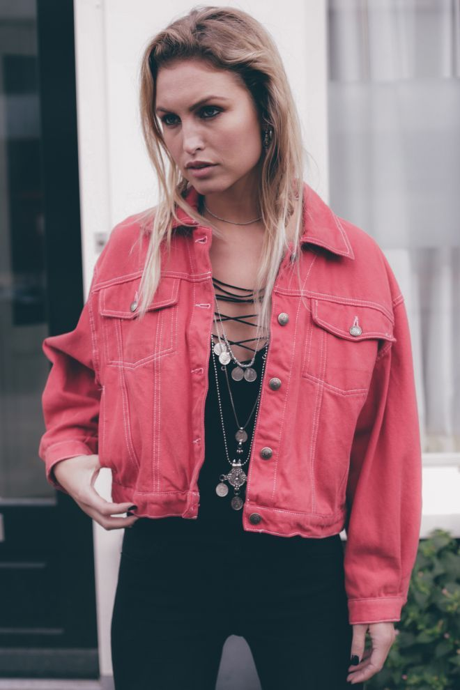 Vintage Rock Denim Jacket