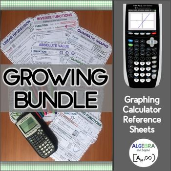 These graphing calculator reference sheets guide students step-by-step on how to solve, graph, or identify the following:Linear RegressionQuadratic…