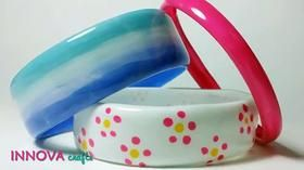 Recyclage de bouteilles plastiques en bracelets