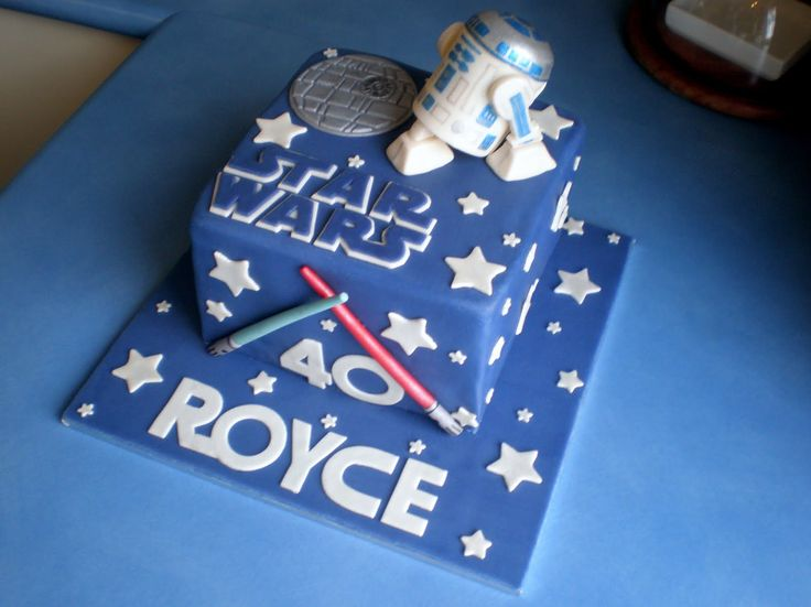 Square Th Star Wars Birthday Cake Decorations