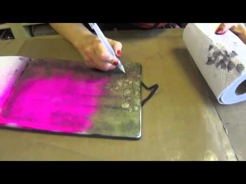"""Signature Designer Dyan Reaveley shares this innovative """"Bleach Out"""" technique using Dylusions Ink Sprays."""