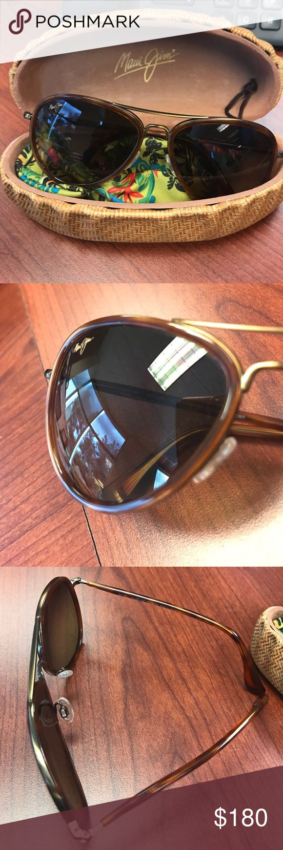 Maui Jim women's Aviators Honomanu Barely used. Has a few very tiny, hardly noticeable scratches. Maui Jim Accessories Sunglasses