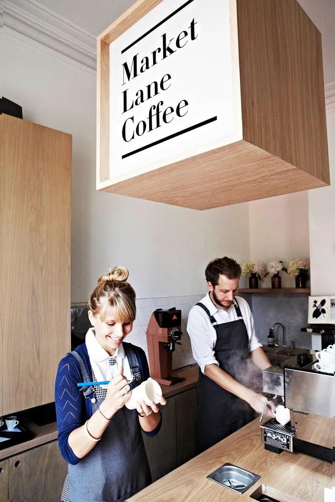 We love the coffee and the cafe design! Market Lane's new Carlton store, photo by The Design Files.