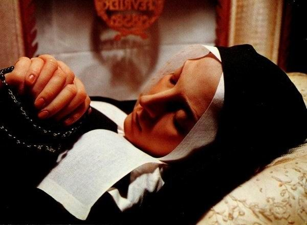 This picture of St.Bernadette who died in Lourdes, France, well over 100 years ago. After church officials decided to exhume her body they discovered her body is still fresh until today and if you ever go to Lourdes, France , you can see in the church in Lourdes.  Many miracles have taken place in this place of Lourdes and still do today. This picture show her body after 122 years.