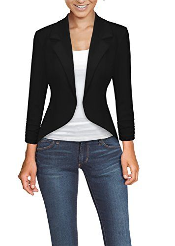 cool HyBrid & Company Womens Casual Work Office High Low Blazer Jacket