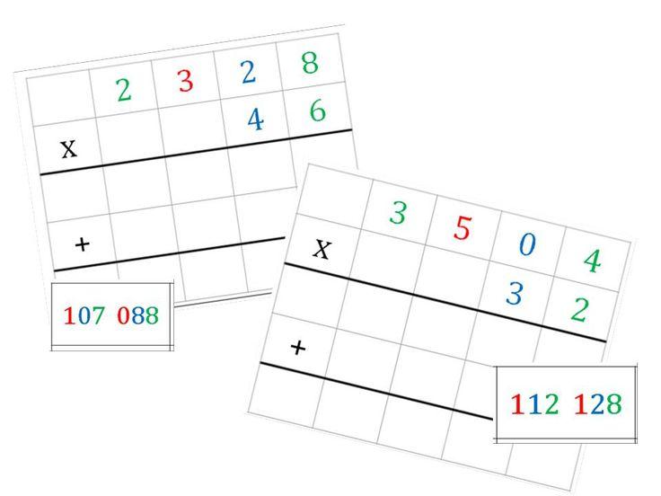 Les multiplications posées façon Montessori