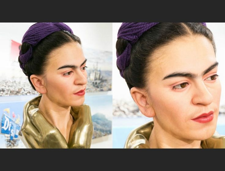At first glance, you'd think you're looking at Frida Kahlo in the flesh, when it's actually a hyper-realistic sculpture from Japanese artist Kazuhiro Tsuji