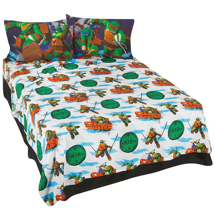 Ninja Turtle Twin Bed Set