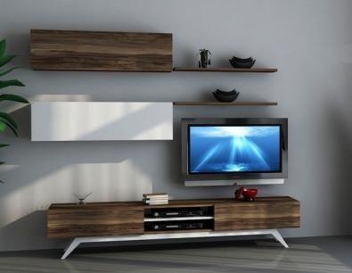 SANAL MOBİLYA HAYAL TV ÜNİTESİ 128 - LEON CEVİZ - TELEVİZYON ÜNİTELERİ ve Mobilya Modelleri