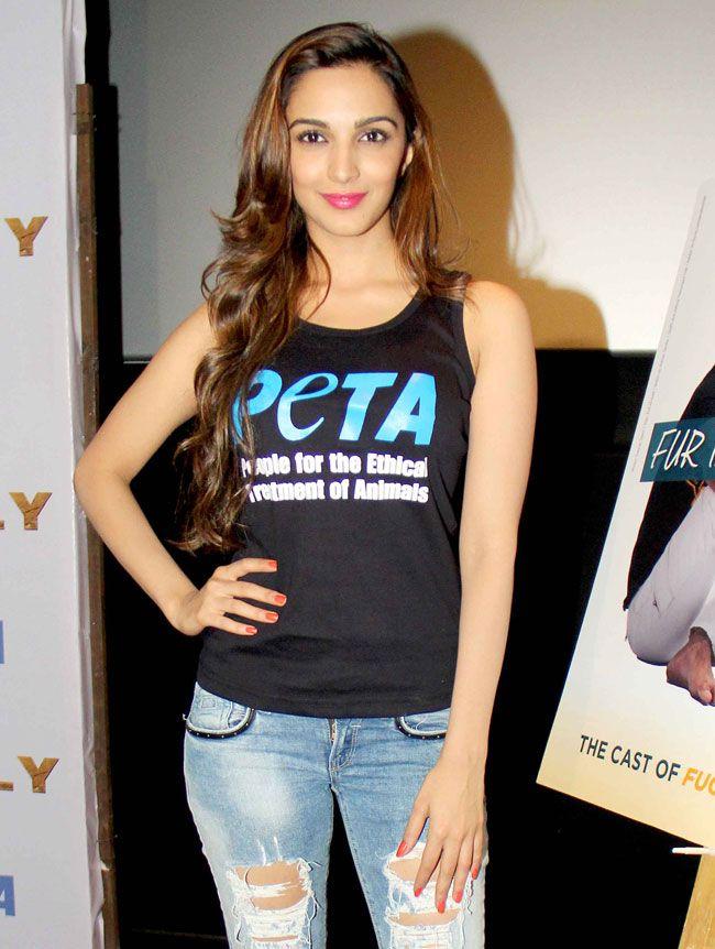 Kiara Advani at a 'PETA' anti-fur campaign. #Style #Bollywood #Fashion #Beauty