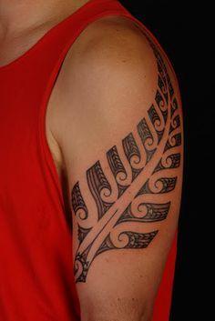 MAORI POLYNESIAN TATTOO: Maori Silver Fern Tattoo Design                                                                                                                                                                                 More