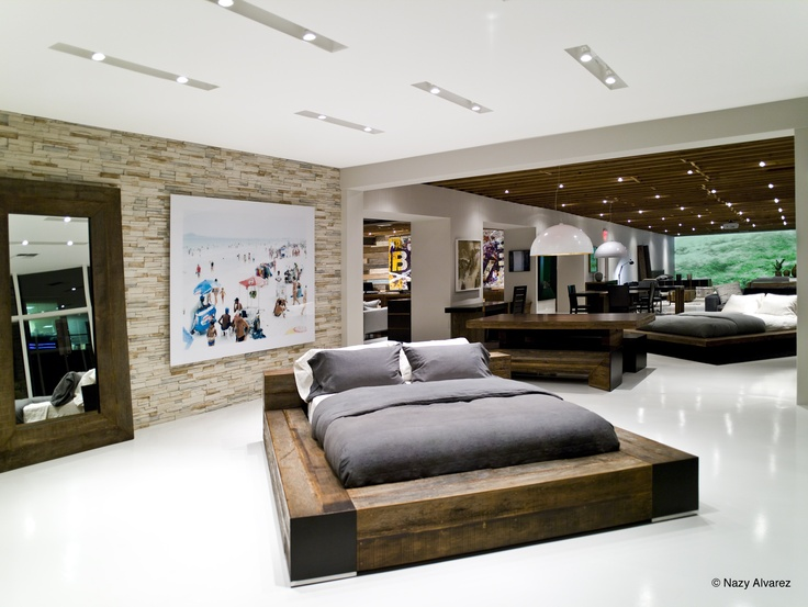 Edge Bed At Environment Los Angeles Showroom · Reclaimed Wood ...