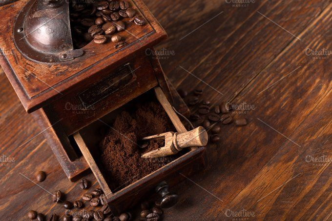 coffee grinder by peterzsuzsa on @creativemarket