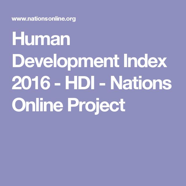 Human Development Index 2016 - HDI - Nations Online Project