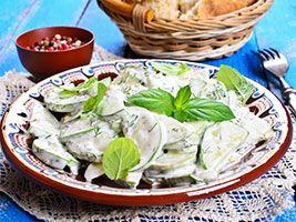 Recette - Salade crémeuse de concombre à l'aneth