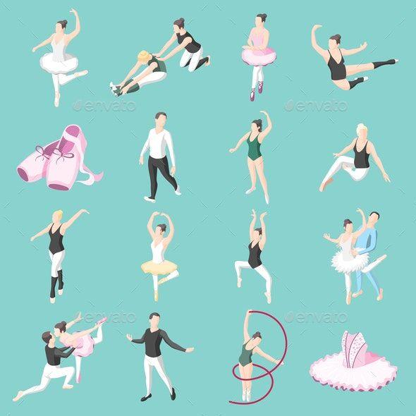 goodwill Uttryckligen fick syn på  Ballet and Ballerinas Isometric Icons   Isometric illustration,  Illustration, Isometric