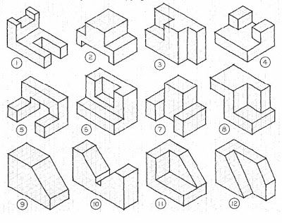 Worksheets Multiview Drawing Exercises 17 best images about on pinterest cartoon isometric drawing ideas got 5 minutes to spare in class give the students sheets and watch them create c