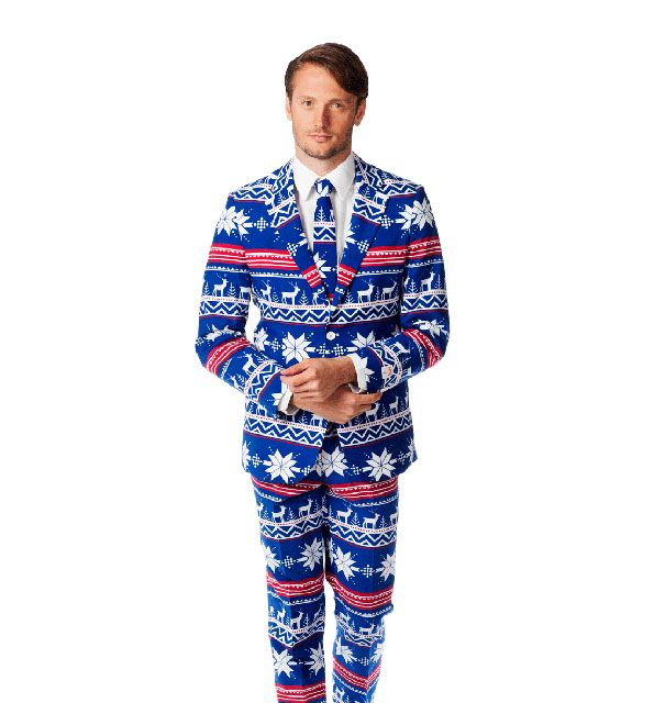 Oppo Suits is selling ugly Christmas suits. Because ugly Christmas sweaters are the norm now and we need to up our game. God, what a weird game we've all b