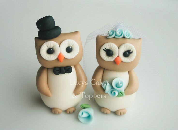 OWL BIRD BRIDE AND GROOM WEDDING CAKE TOPPER ENGAGEMENT ANNIVERSARY | eBay