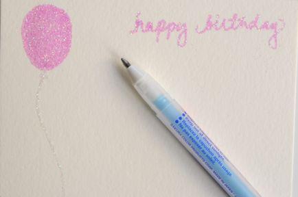 glitter messagesGlue Pens, Crafts Gift, Diy Crafts, Handmade Cards, Diy Birthday Cards, Crafts Diy, Homemade Cards, Diy Cards, Glitter Cards