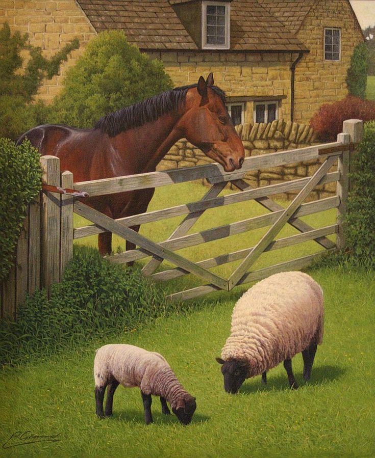 Philip Gerrard (b.1958); 'The Grass is Greener', Artes
