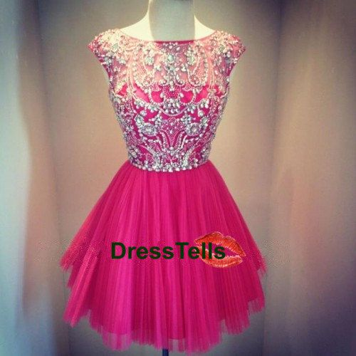Short Bead Red Prom Dress / Mini Homecoming Party Dress/Mint Peach Red Grey Sexy Graduation Dress/Cheap Short Evening Dress